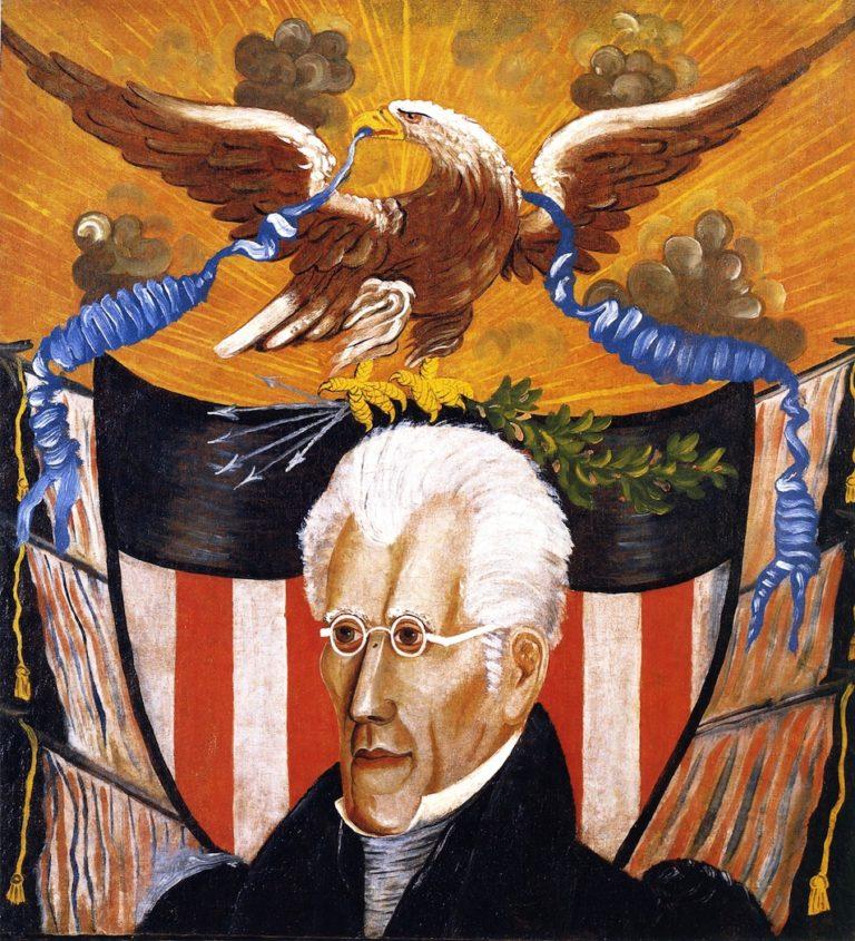 Andrew Jackson   Edward Hicks   oil painting