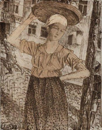 Raznoschitsa 1922 | Petrov Vodkin Kuzma Sergeevich | oil painting