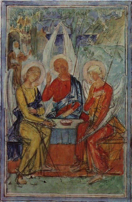 Trinity 1915   Petrov Vodkin Kuzma Sergeevich   oil painting