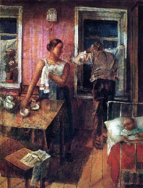 Anxiety 1926   Petrov Vodkin Kuzma Sergeevich   oil painting