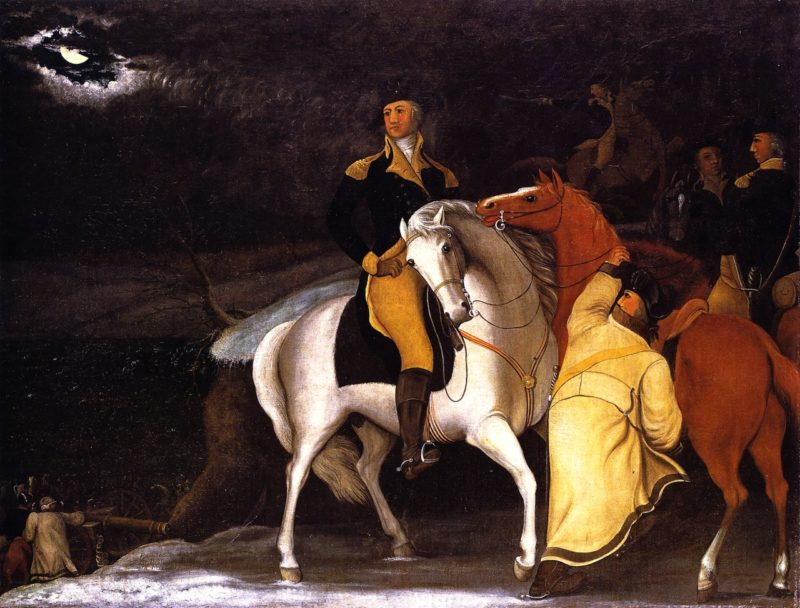 George Washington with His Army Crossing the Delaware | Edward Hicks | oil painting