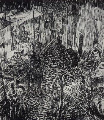 Street 1923 | Petrov Vodkin Kuzma Sergeevich | oil painting