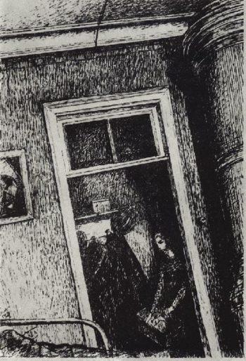 Interior 1920 | Petrov Vodkin Kuzma Sergeevich | oil painting