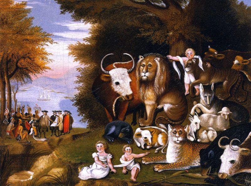 Peaceable Kingdom   Edward Hicks   oil painting