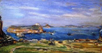 Bagnoli View from Posilip | Max Slevogt | oil painting