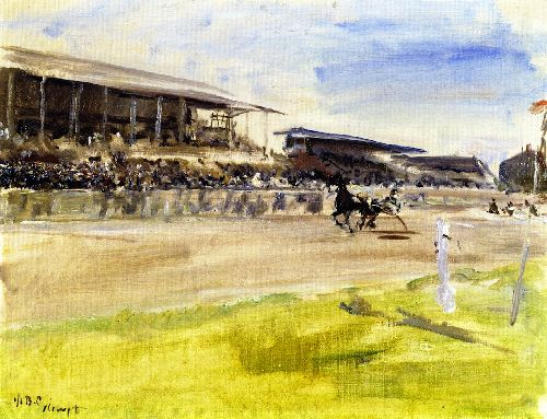 Harness Racetrack in Ruhleben | Max Slevogt | oil painting