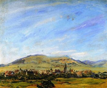 View from Godramstein toward Frankweiler | Max Slevogt | oil painting