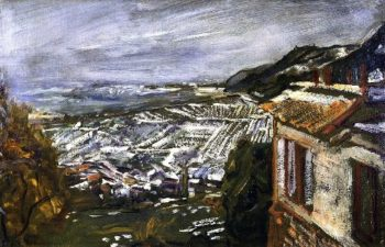 View from Naukastel Late Autumn with Snow | Max Slevogt | oil painting