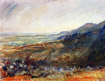 Palatinate Landscape View of the Madenburg | Max Slevogt | oil painting