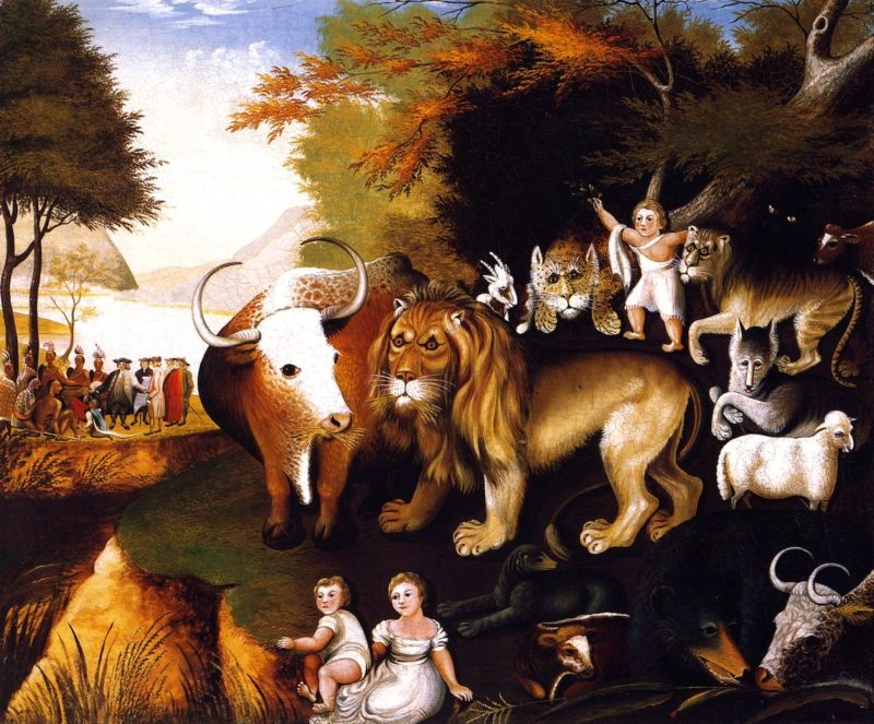 Peaceable Kingdom | Edward Hicks | oil painting