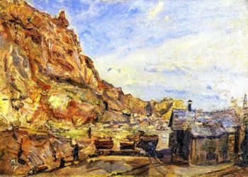 The Quarry at Albersweiler   Max Slevogt   oil painting