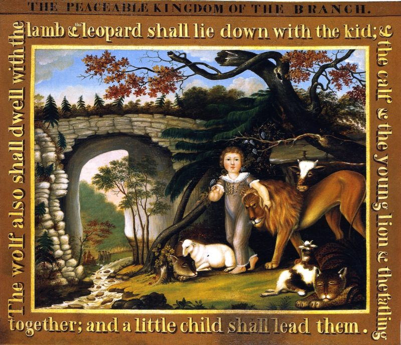 Peaceable Kingdom of the Branch   Edward Hicks   oil painting