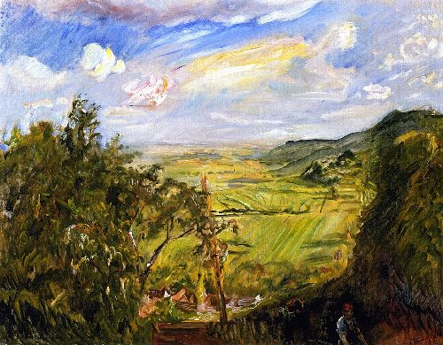 Cherry Harvest View from Heukastel toward the South | Max Slevogt | oil painting