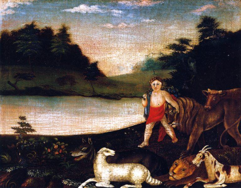 Peaceable Kingdom | Edward Hicks | oil painting