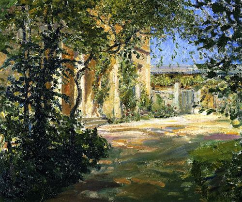 Country House in Godramstein Entrance to the Villa | Max Slevogt | oil painting
