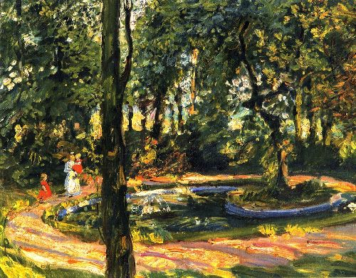 Children by the Pond The Garden in Godramstein | Max Slevogt | oil painting