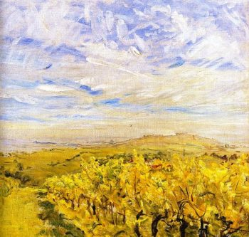 Early Autumn in the Palatinate Vineyards near Neukastel | Max Slevogt | oil painting