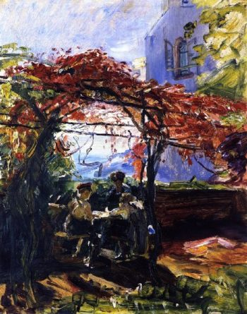 Grape Arbor at Neukastel | Max Slevogt | oil painting