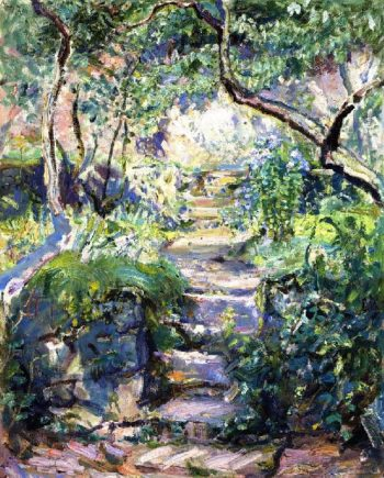 Garden Steps in Neukastel | Max Slevogt | oil painting