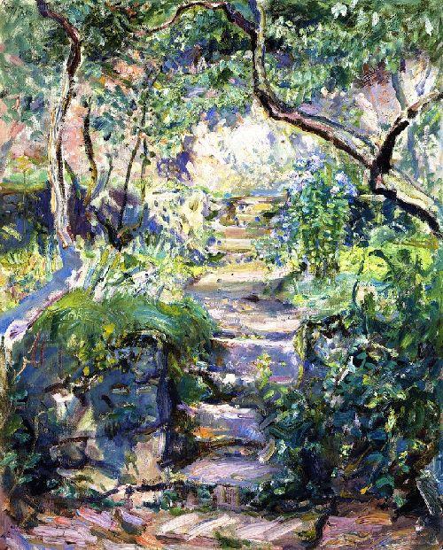 Garden Steps in Neukastel   Max Slevogt   oil painting