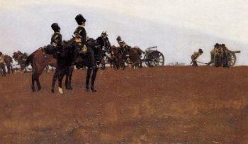 Artillery on the moor | George Heidrik Breitner | oil painting