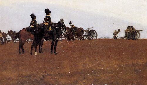Artillery on the moor | George Heidrik Breitner | oil painting