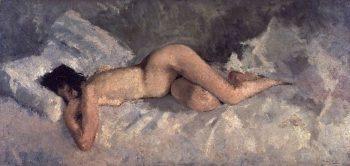 Reclining Nude | George Heidrik Breitner | oil painting