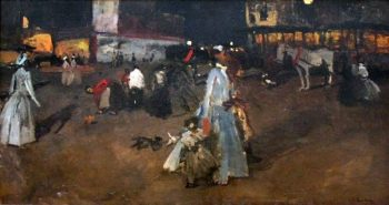 An Evening on the Dam in Amsterdam | George Heidrik Breitner | oil painting