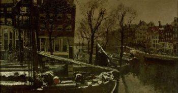 Winter in Amsterdam | George Heidrik Breitner | oil painting