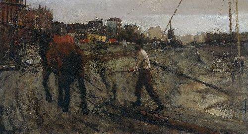 Building Site in Amsterdam | George Heidrik Breitner | oil painting