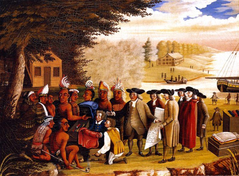 Penn's Treaty   Edward Hicks   oil painting
