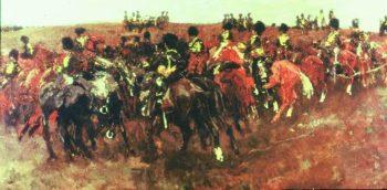 Riders on the heath near Schaarsbergen | George Heidrik Breitner | oil painting
