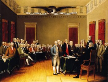 The Declaration of Independence July 4 1776 | Edward Hicks | oil painting