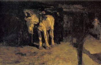 The horse of Montmartre | George Heidrik Breitner | oil painting