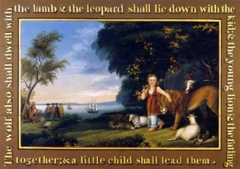The Peaceable Kingdom of the Branch | Edward Hicks | oil painting