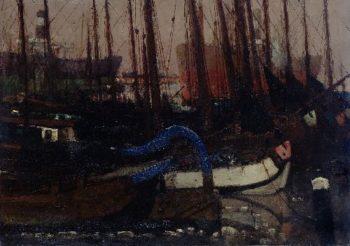 Ships in the ice | George Heidrik Breitner | oil painting