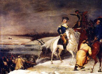 Washington at the Delaware   Edward Hicks   oil painting