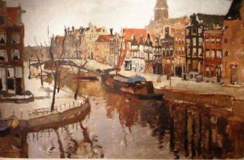 Amsterdam Korte Prinsengracht | George Heidrik Breitner | oil painting