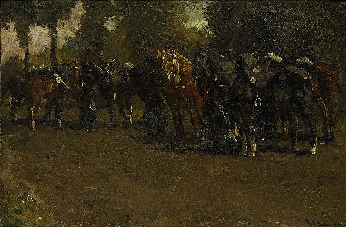Cavalry at Rest | George Heidrik Breitner | oil painting