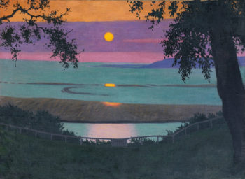 Sunset at Grace Orange and Violet Sky | Felix Vallotton | oil painting