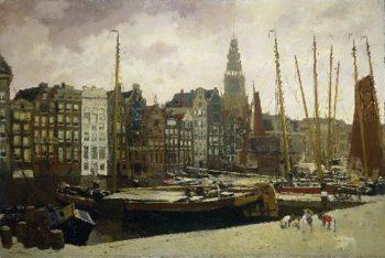 The Damrak in Amsterdam | George Heidrik Breitner | oil painting