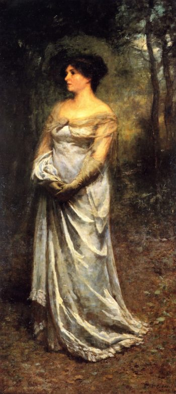 A Lady in Grey | Frederick McCubbin | oil painting