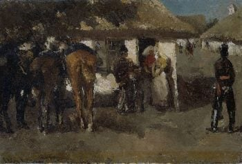 Inkwartiering | George Heidrik Breitner | oil painting