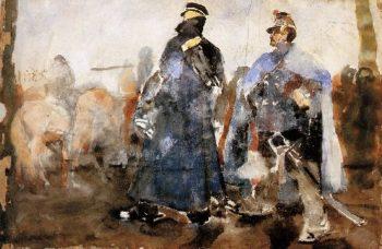 Huzars | George Heidrik Breitner | oil painting