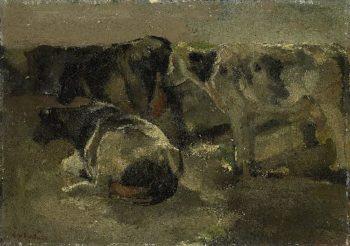 Four Cows | George Heidrik Breitner | oil painting