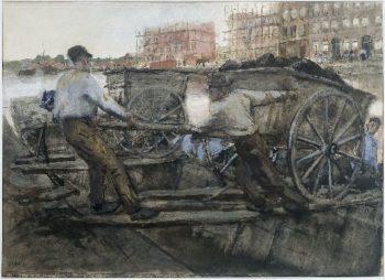 Ground Porters with Carts | George Heidrik Breitner | oil painting