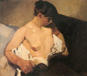 Seated Half Nude | George Heidrik Breitner | oil painting