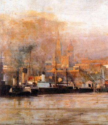 Melbourne in 1888 | Frederick McCubbin | oil painting