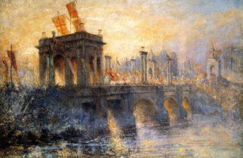 Princess Bridge | Frederick McCubbin | oil painting