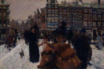 The Singelbrug near the Paleisstraat in Amsterdam | George Heidrik Breitner | oil painting